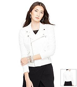 Lauren Ralph Lauren® Stretch-Twill Moto Jacket