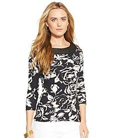Lauren Ralph Lauren® Floral Ballet-Neck Shirt