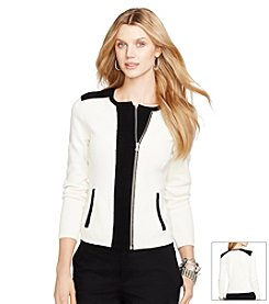Lauren Ralph Lauren® Color-Blocked Cotton Cardigan