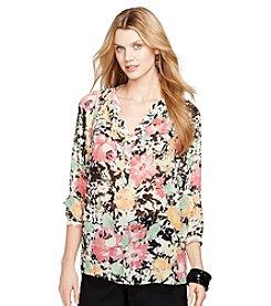 Lauren Ralph Lauren® Floral Split-Neck Blouse