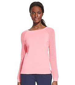 Lauren Active® Knit-Mesh Cotton Sweater
