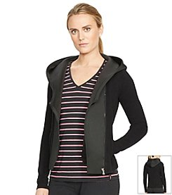 Lauren Active® Asymmetrical-Zip Cotton Hoodie