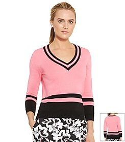 Lauren Active® V-Neck Cricket Sweater