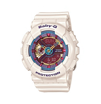 Baby-G Women's 46mm Cream With Multicolored Dial Analog-Digital Watch