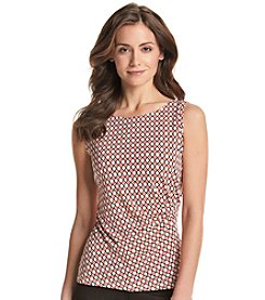 Jones New York Collection® Ruched Printed Shell