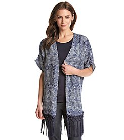 Fever™ Fringe Kimono