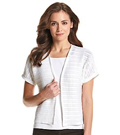 Jones New York Sport® Short Sleeve Open Cardigan