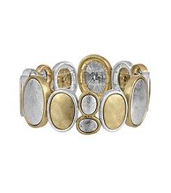 The Sak® Two Tone Organic Metal Stretch Bracelet