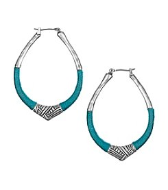 The Sak® Silvertone Thread Hoop Earrings