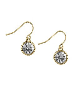 The Sak® Goldtone Solitaire Drop Earrings