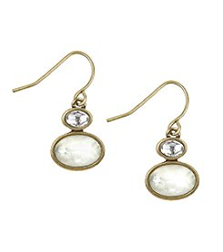 The Sak® Goldtone Oval Double Drop Earrings