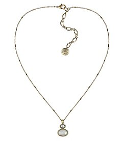 The Sak® Goldtone Double Drop Pendant Necklace