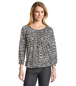 MICHAEL Michael Kors® Zebra Print Peasant Top
