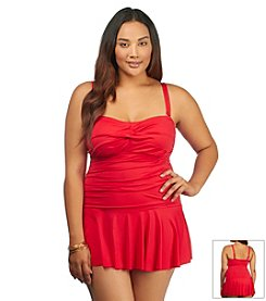 Lauren Ralph Lauren® Plus Size Laguna Twist Skirted One Piece Swimsuit