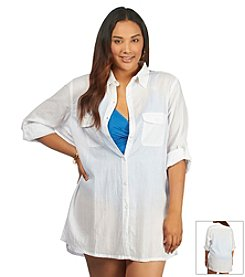 Lauren Ralph Lauren® Plus Size Solid Cover Up Shirt