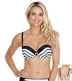 Maidenform® Mesh Stripe Swim Bra Top