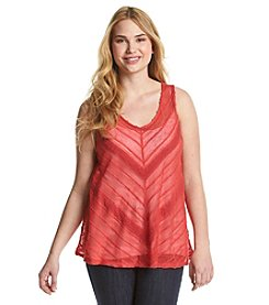 Eyeshadow® Plus Size Zig-Zag Sweater Tank