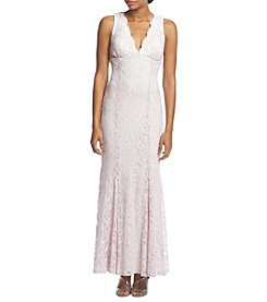 Morgan & Co.® Rolled Glitter Lace Mermaid Dress