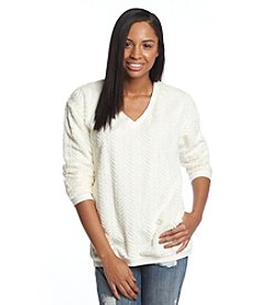 Eyeshadow® Geo Textured Pullover