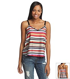 Jessica Simpson Braid Strap Striped Cami