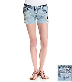 Hippie Laundry Raw Edge Destructed Jean Shorts