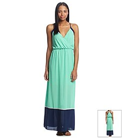 Sequin Hearts® Halter Maxi Dress