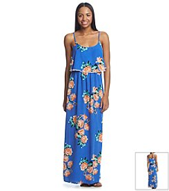 Sequin Hearts® Popover Floral Maxi Dress