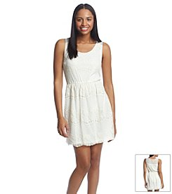 Sequin Hearts® Lace Fit And Flare Dress