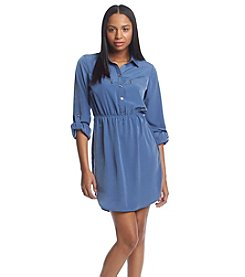 XOXO® Zip Shirt Dress