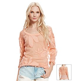 Jessica Simpson Sheron Mesh Pullover Top