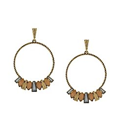 Jessica Simpson Goldtone Hoop Earrings