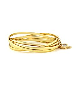 Jessica Simpson Goldtone Metal Connection Bangle Bracelet Set