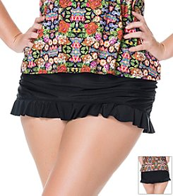 Jessica Simpson Plus Size Solid Ruffle Skirted Bottom