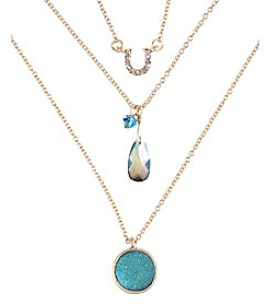 Lonna & Lilly Carded Goldtone Necklace with Three Charms