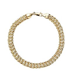10K Yellow Gold Polished Woven Bracelet