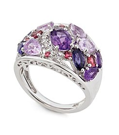 Multi Gemstone Ring in Sterling Silver