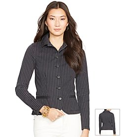 Lauren Jeans Co.® Pinstriped Cotton Jacket