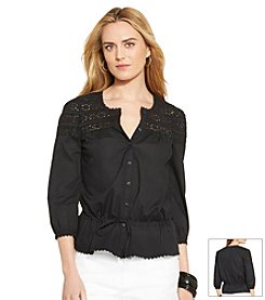Lauren Jeans Co.® Cotton Lace Blouse