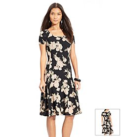 Lauren Jeans Co.® Floral Lace Scoopneck Dress