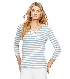 Lauren Jeans Co.® Striped Lace-Up Shirt