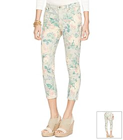 Lauren Jeans Co.® Floral Straight Crop Pants