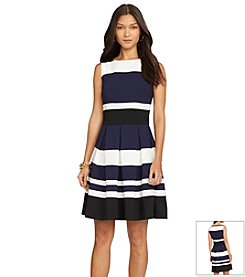 Lauren Ralph Lauren® Three-Toned Day Dress