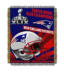 New England Patriots Super Bowl XLIX Champions Tapestry Throw