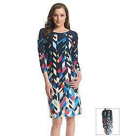 Nine West® Printed Scuba Dress