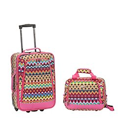 Rockland 2-pc. Tribal Luggage Set