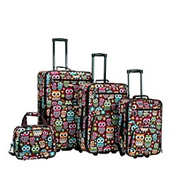 Rockland 4-pc. Owl Luggage Set