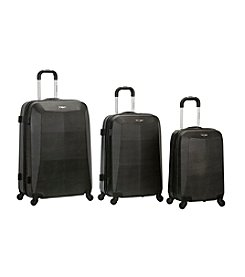 Rockland 3-pc. Crocodile ABS Luggage Set
