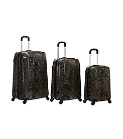 Rockland 3-pc. Snake ABS Luggage Set