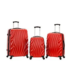 Rockland 3-pc. Melbourne Wave ABS Luggage Set