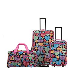 Rockland 3-pc. New Heart Luggage Set